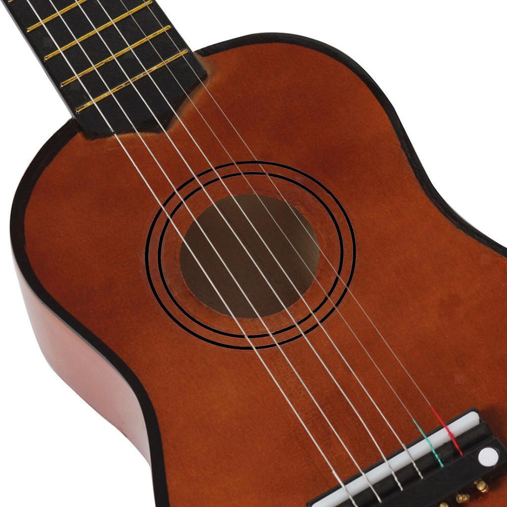 Legno-massello-lucido-21-pollici-6-String-chitarra-MINI-CHITARRA-ACUSTICA-giocattoli-Set miniatura 22