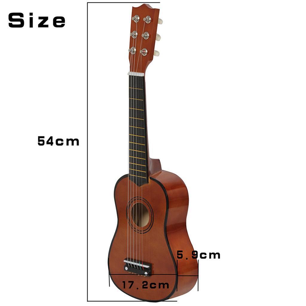 Legno-massello-lucido-21-pollici-6-String-chitarra-MINI-CHITARRA-ACUSTICA-giocattoli-Set miniatura 21