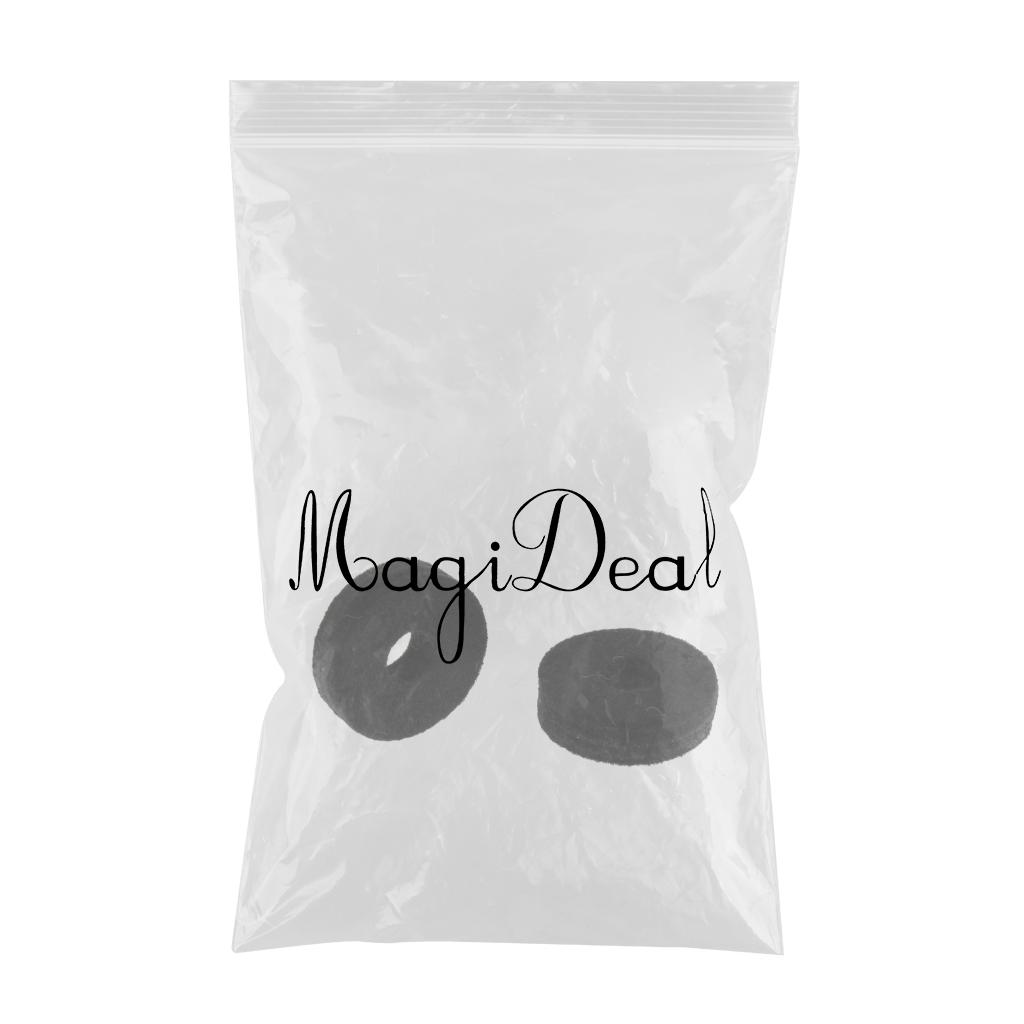 Replacement Drum Cymbal Felt Washer Pads for Drum Set Kit Parts, 2 Pack