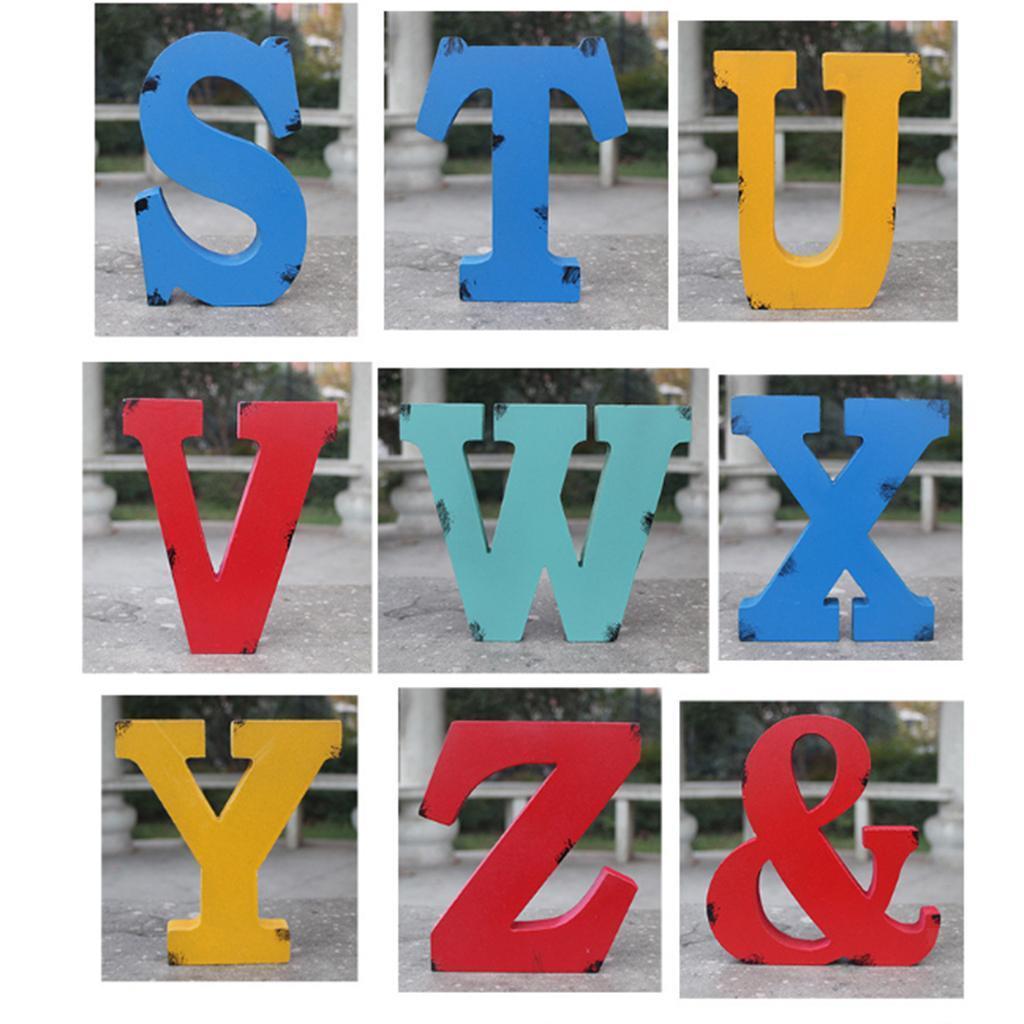 18cm Wooden Letters Wood Letter A-Z Alphabet /& Sign Home Wedding Party Decor
