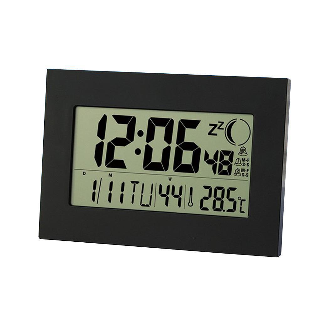 Große LCD Wanduhr Tisch Wecker Digitalwecker mit Snooze