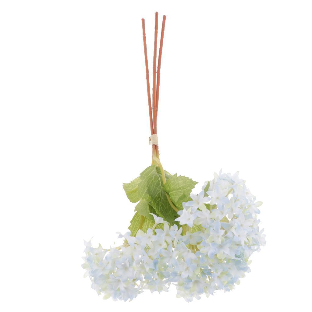 Mini-Bouquet-Artificiel-Faux-Soie-Hortensia-Fleurs-Mariage-Anniversaire miniature 15