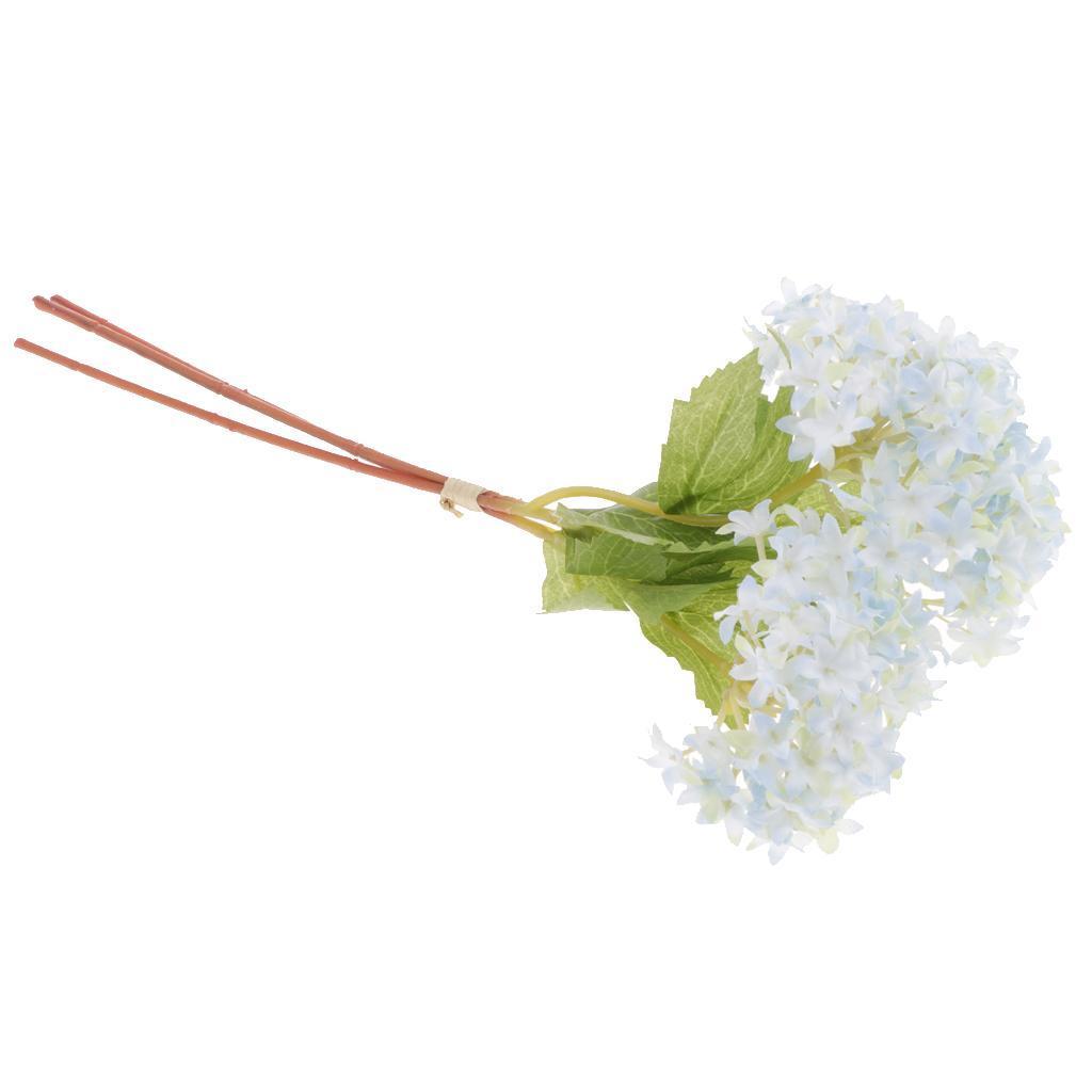 Mini-Bouquet-Artificiel-Faux-Soie-Hortensia-Fleurs-Mariage-Anniversaire miniature 16
