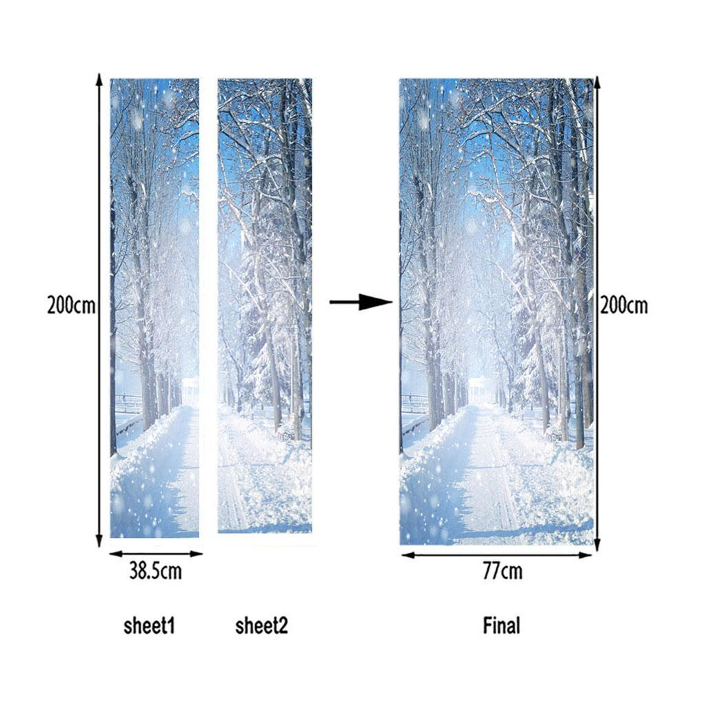 thumbnail 38 - 3D Self Adhesive Door Sticker DIY Decor Poster for Home Room Decor