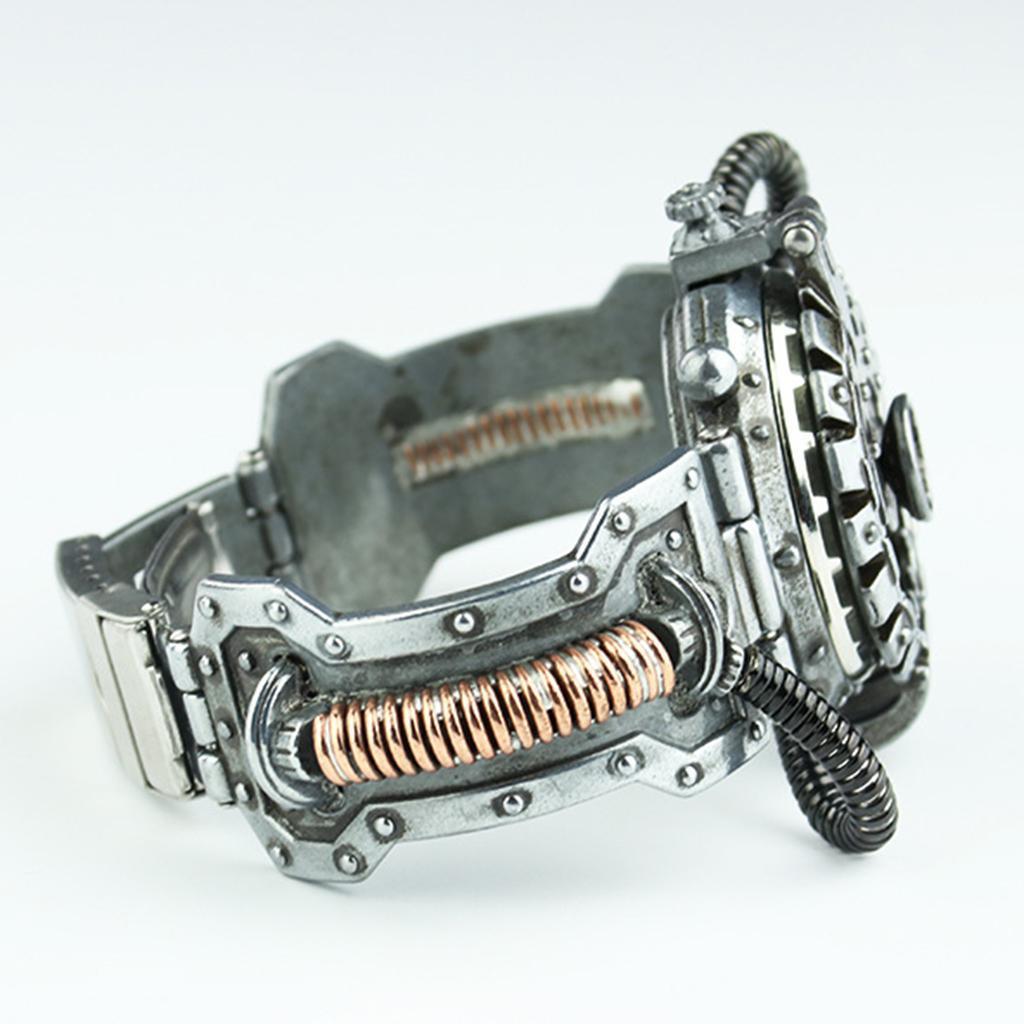 Orologio-Tascabile-da-Uomo-Stile-Steampunk-Gotico-Movimento-a-Quarzo miniatura 11
