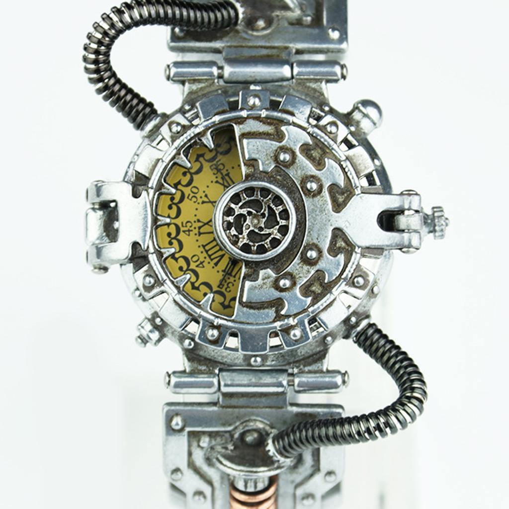 Orologio-Tascabile-da-Uomo-Stile-Steampunk-Gotico-Movimento-a-Quarzo miniatura 8