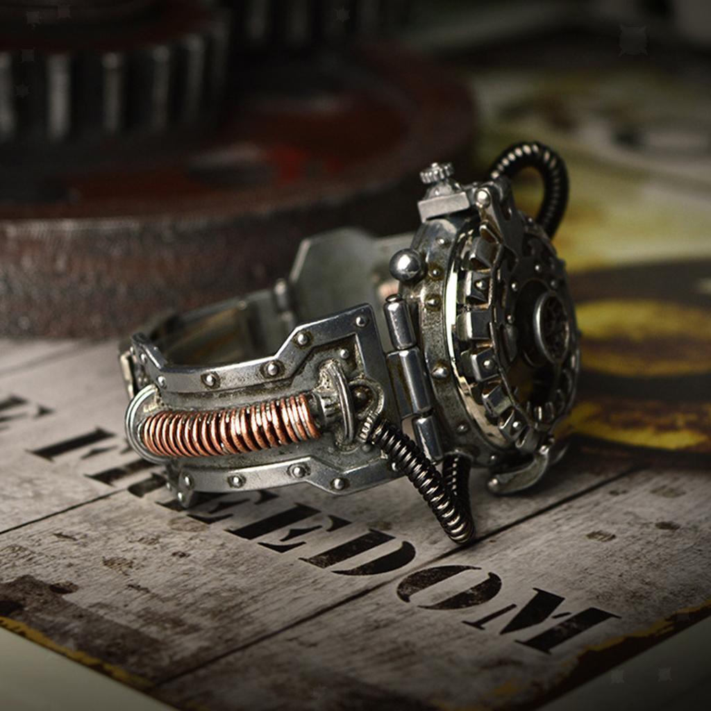 Orologio-Tascabile-da-Uomo-Stile-Steampunk-Gotico-Movimento-a-Quarzo miniatura 9