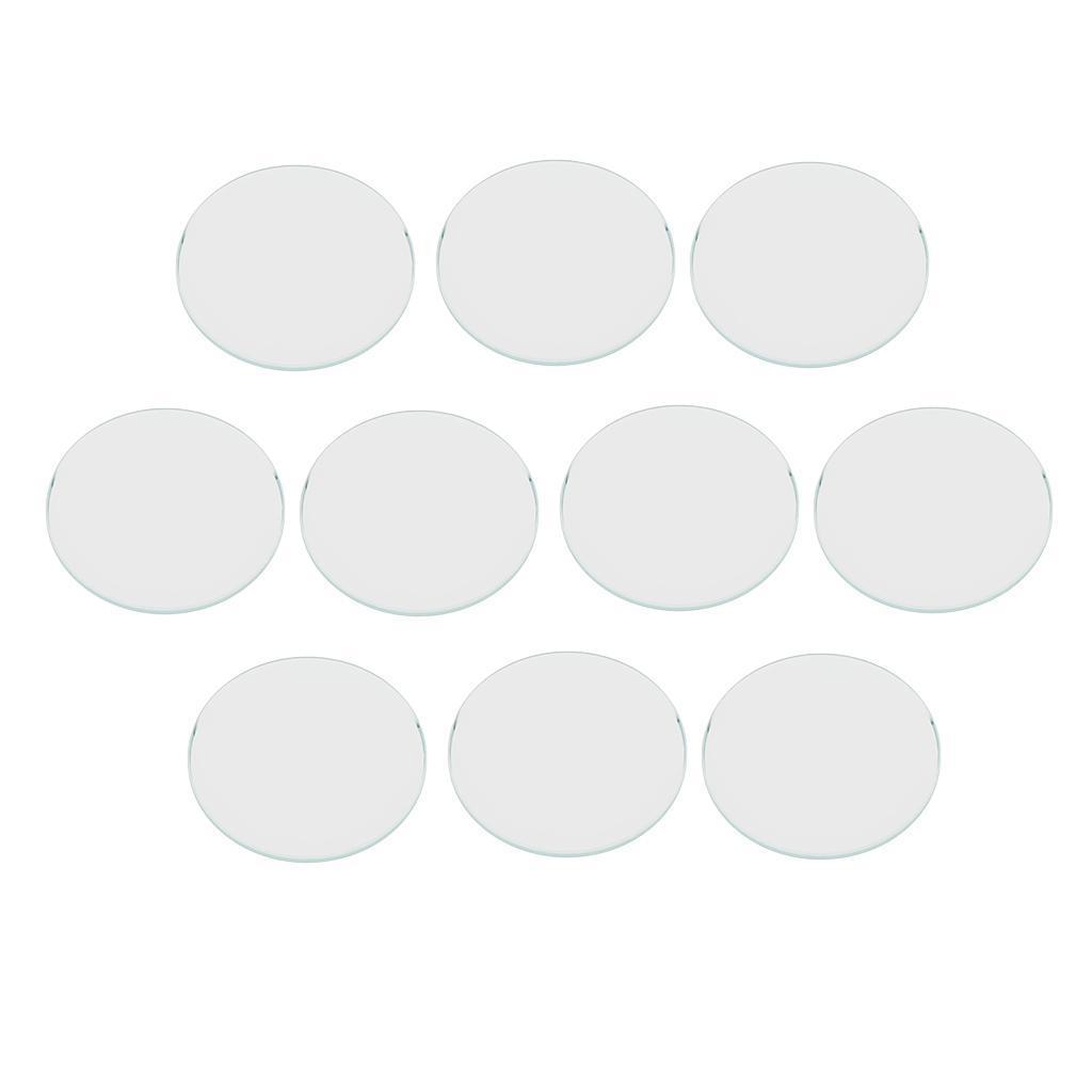 10-Pezzi-Glass-per-Orologio-DIY-Strumento-Vetro-Minerale-in-Cristallo miniatura 37