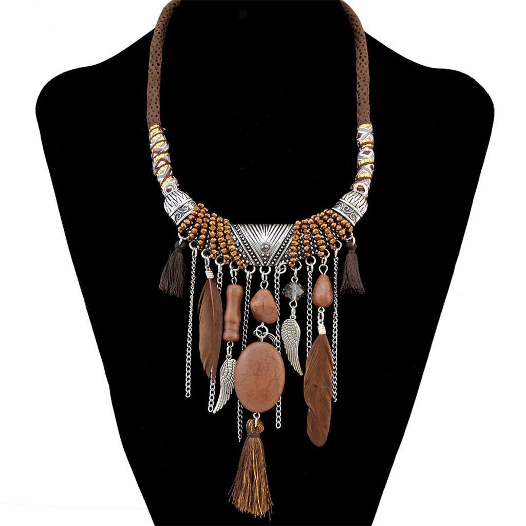 Cool Women Bohemian Vintage Collar Ethnic Tassel Coin Bib Statement Necklace ❅