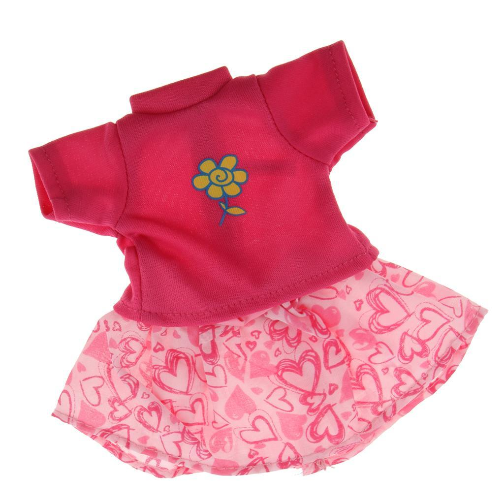 For-14-inch-Wellie-Wishers-American-Doll-Dolls-Clothing-T-shirt-Miniskirt-Romper thumbnail 12