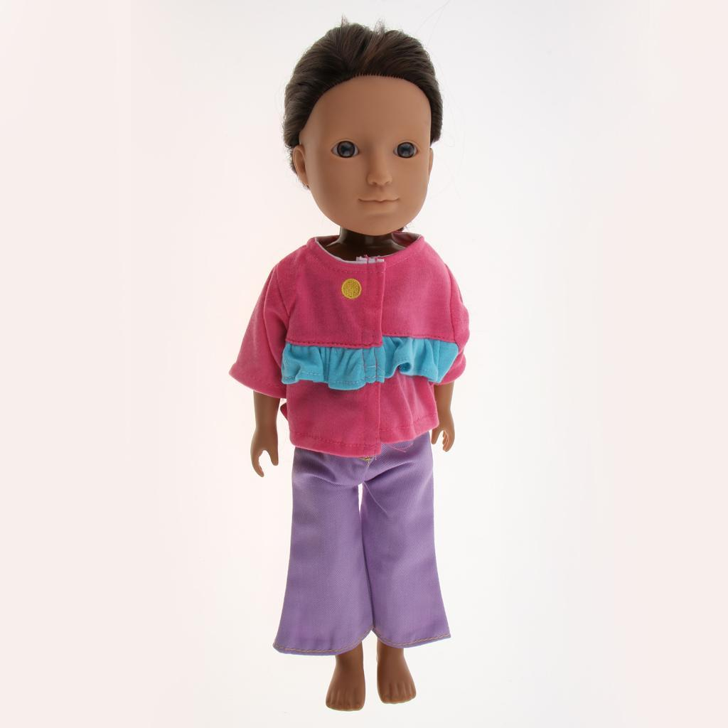 For-14-inch-Wellie-Wishers-American-Doll-Dolls-Clothing-T-shirt-Miniskirt-Romper thumbnail 27