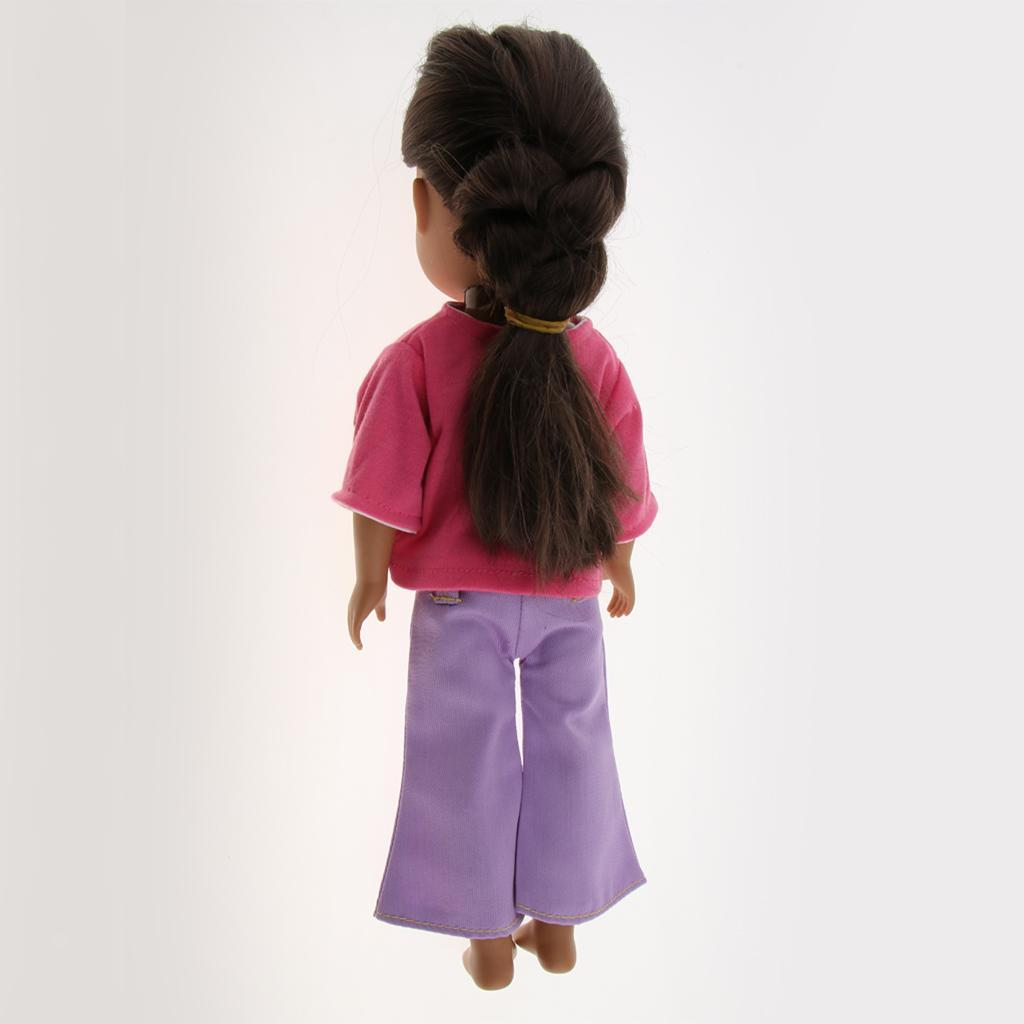 For-14-inch-Wellie-Wishers-American-Doll-Dolls-Clothing-T-shirt-Miniskirt-Romper thumbnail 28