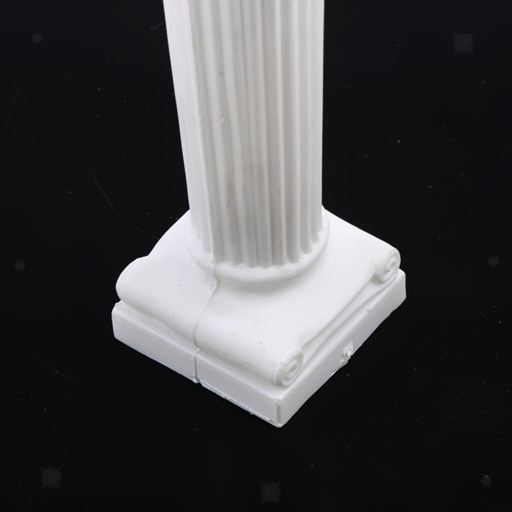 12pcs-Mini-Colonne-Romane-Miniature-Sculpture-Statue-en-Platre-Accessoire miniature 10