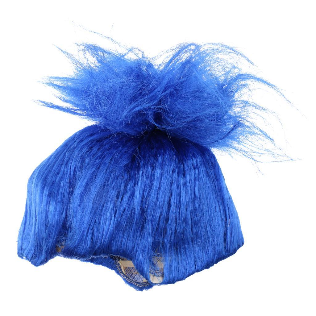 Cute-Flame-Troll-Short-Wig-Cosplay-Party-Costume-Fancy-Dress-Magic-Pixie-Elf-Wig thumbnail 21