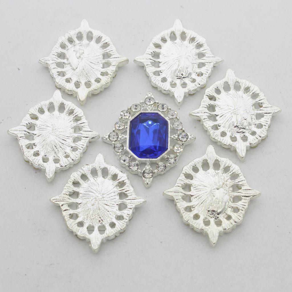 5-Pieces-Acrylique-plat-soutenu-Strass-Cabochons-Bijoux-Decoration miniature 10