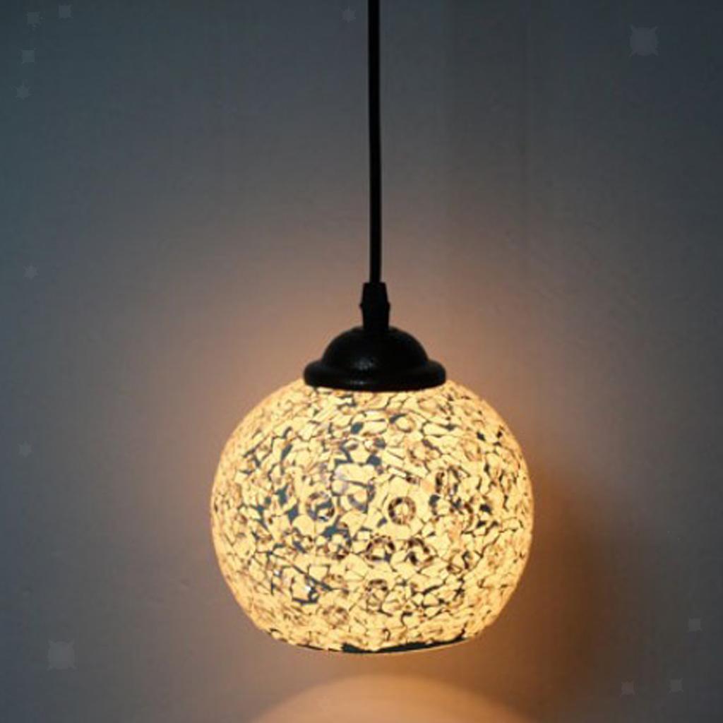 Mosaic-Style-Hanging-Light-Ceiling-Pendant-Lamp-Retro-Lampshade-Cafe-Restaurant thumbnail 55