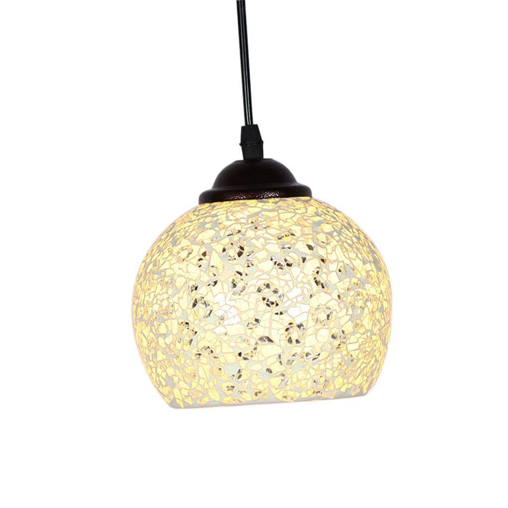 Mosaic-Style-Hanging-Light-Ceiling-Pendant-Lamp-Retro-Lampshade-Cafe-Restaurant thumbnail 57