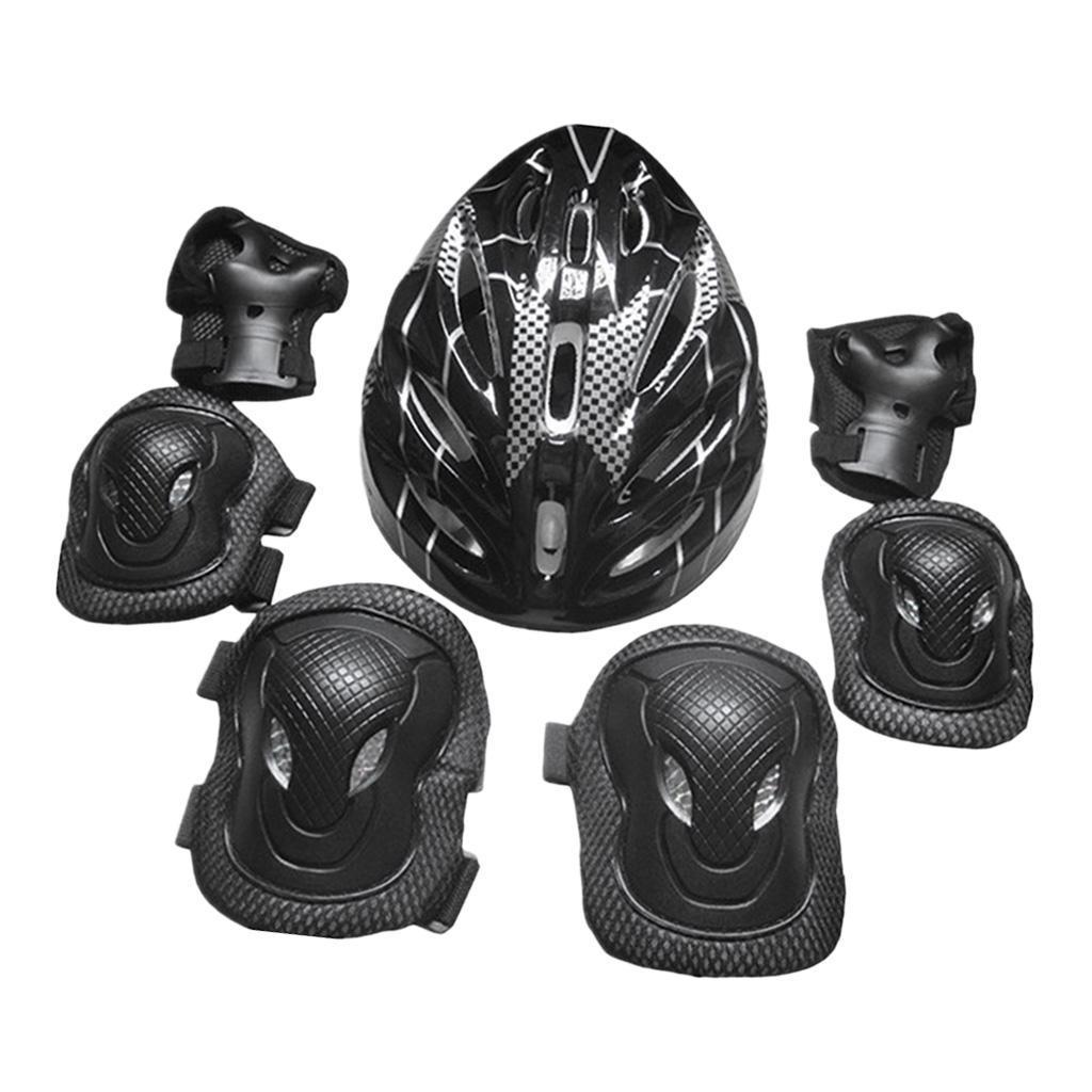 Lovoski-Skating-Protection-Kit-Helmet-Knee-Elbow-Pads-Hand-Safety-Guard-Gear thumbnail 3