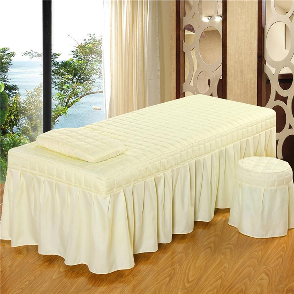 Massage Table Skirts Facial Tattoo Bed Sheets Bedding Pillowcase Stool Cover
