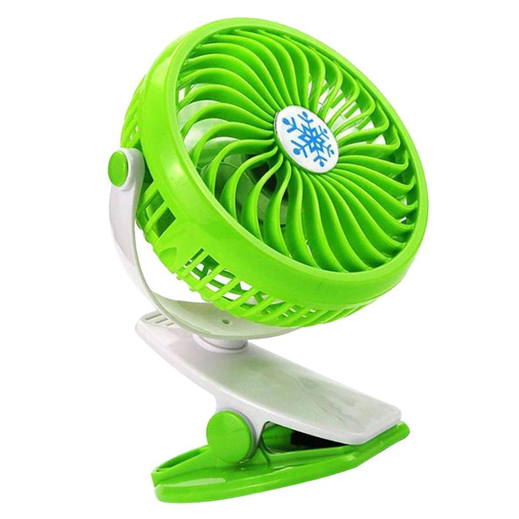 Mini Desk Fan Rechargeable Battery Operated Clip On
