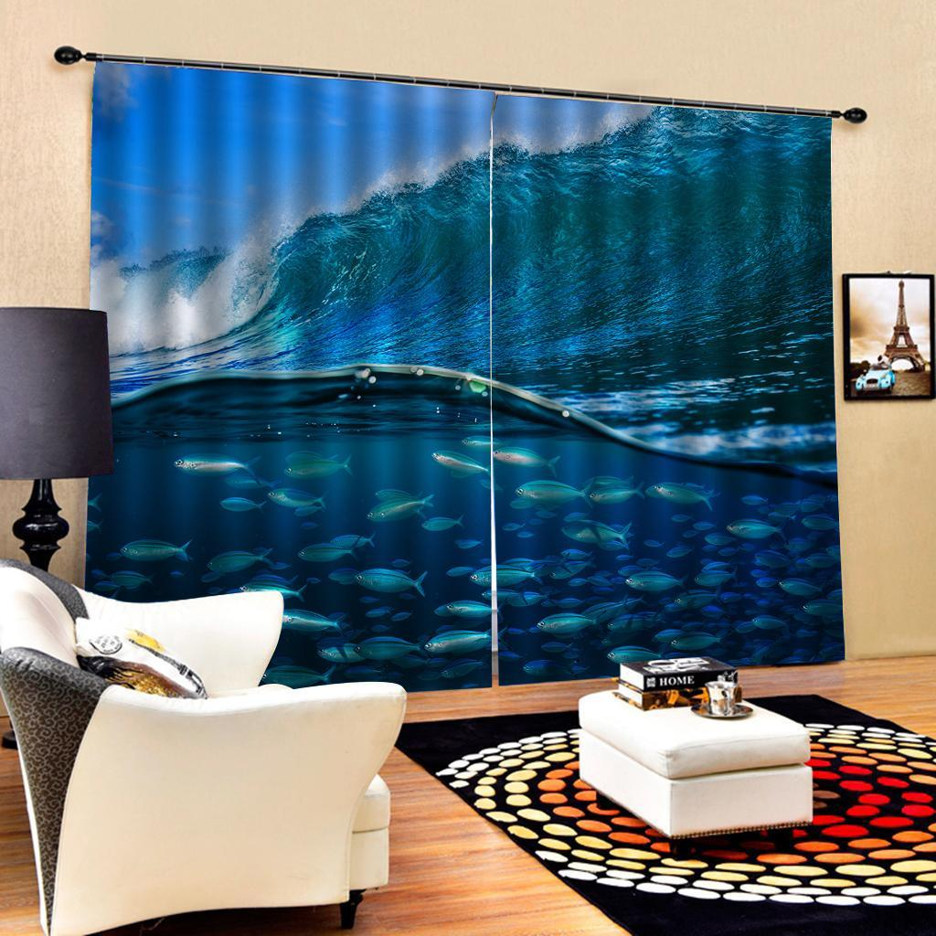 3D Effect Window Curtains Drape for Living Room Bedroom Decor 2 Panels I