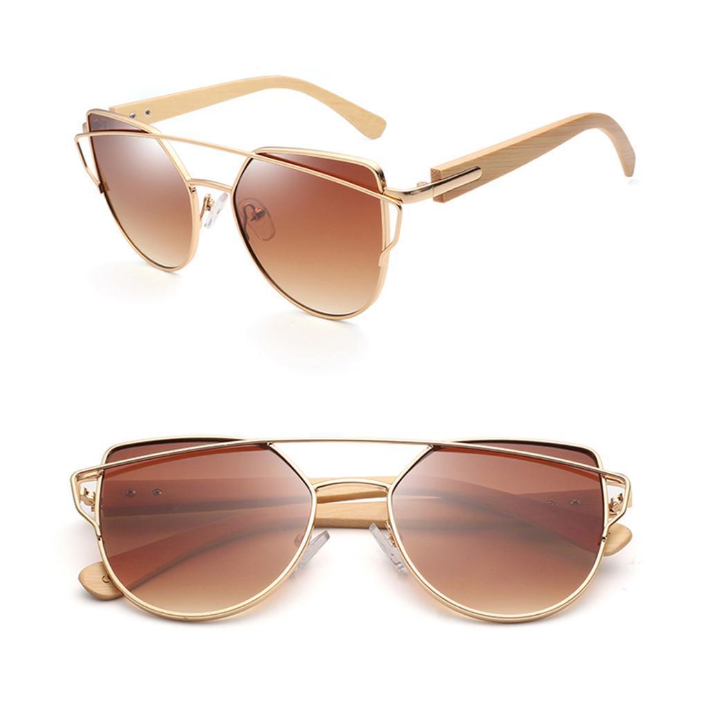 uomo-donna-moda-in-legno-uv-400-lenti-piatte-occhiali-da-sole-con-gambe-di miniatura 10