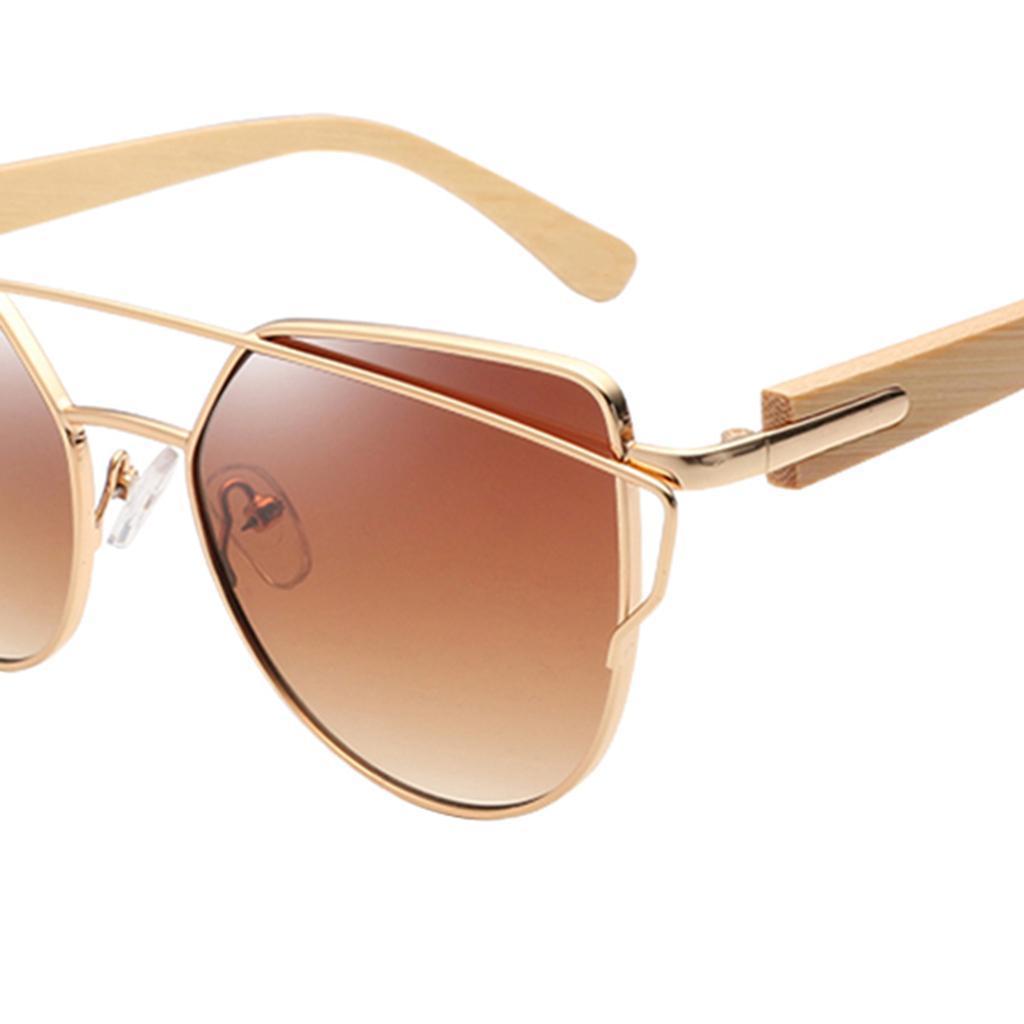 uomo-donna-moda-in-legno-uv-400-lenti-piatte-occhiali-da-sole-con-gambe-di miniatura 11