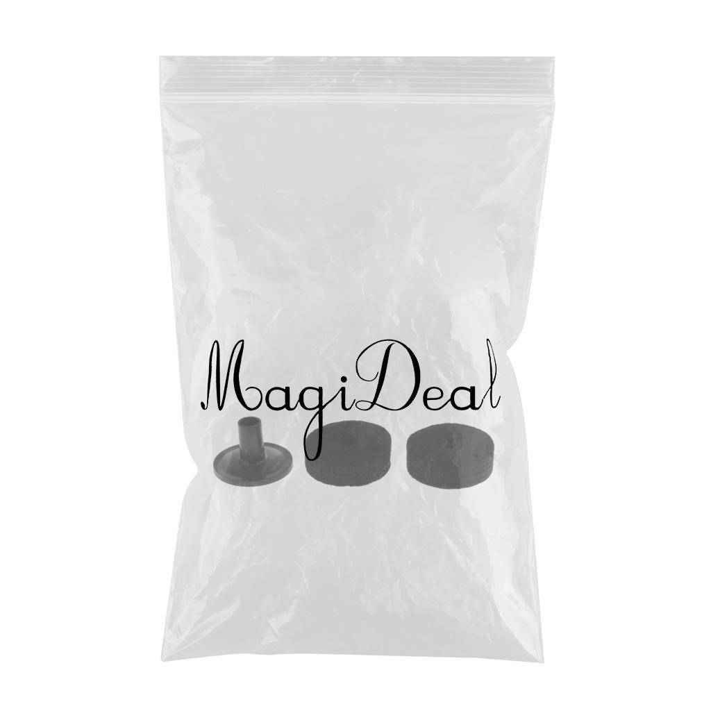 2pcs Drum Set Hi-Hat Cymbal Felts Washers Pads with Cymbal Sleeve Black