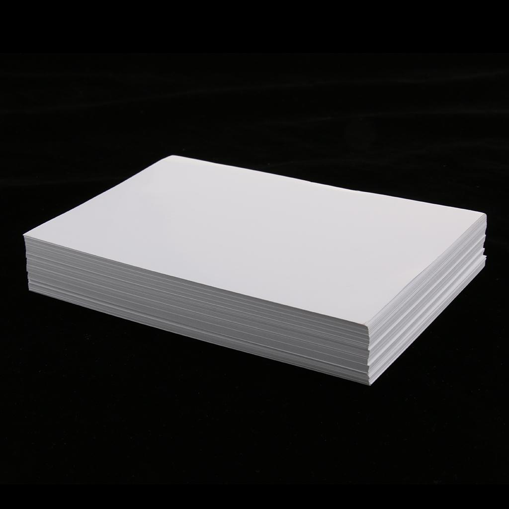 """100 Pcs Solid High Gloss Glossy Photo Paper 4R for Inkjet Printer 6x4/"""""""