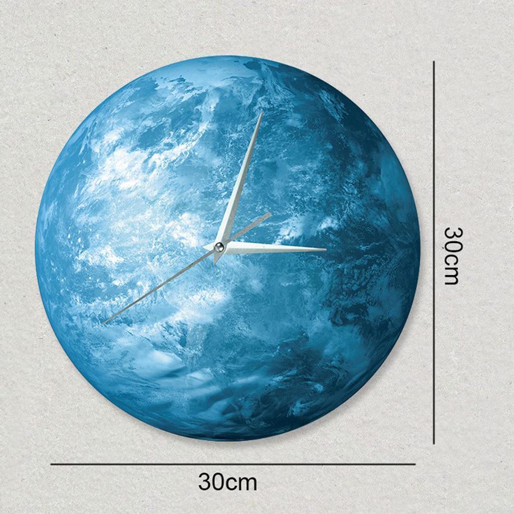 Indoor-Decorative-Wall-Clock-12inch-Luminous-Moon-Battery-Operated-Silent thumbnail 9