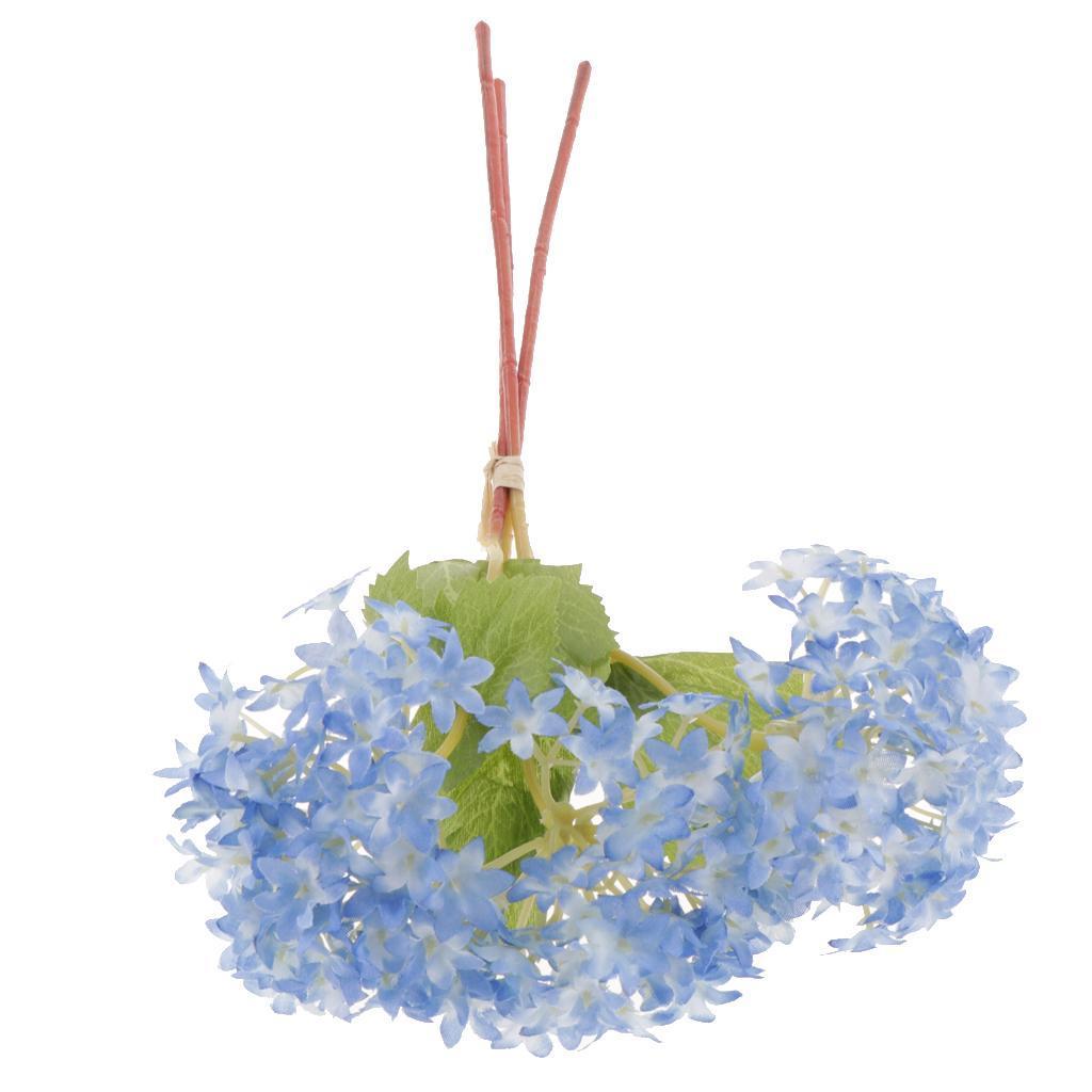 Mini-Bouquet-Artificiel-Faux-Soie-Hortensia-Fleurs-Mariage-Anniversaire miniature 20