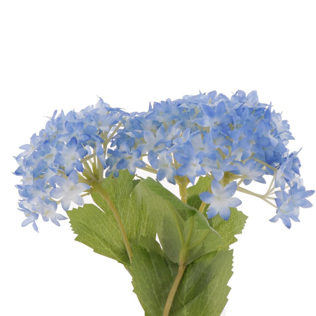 Mini-Bouquet-Artificiel-Faux-Soie-Hortensia-Fleurs-Mariage-Anniversaire miniature 19