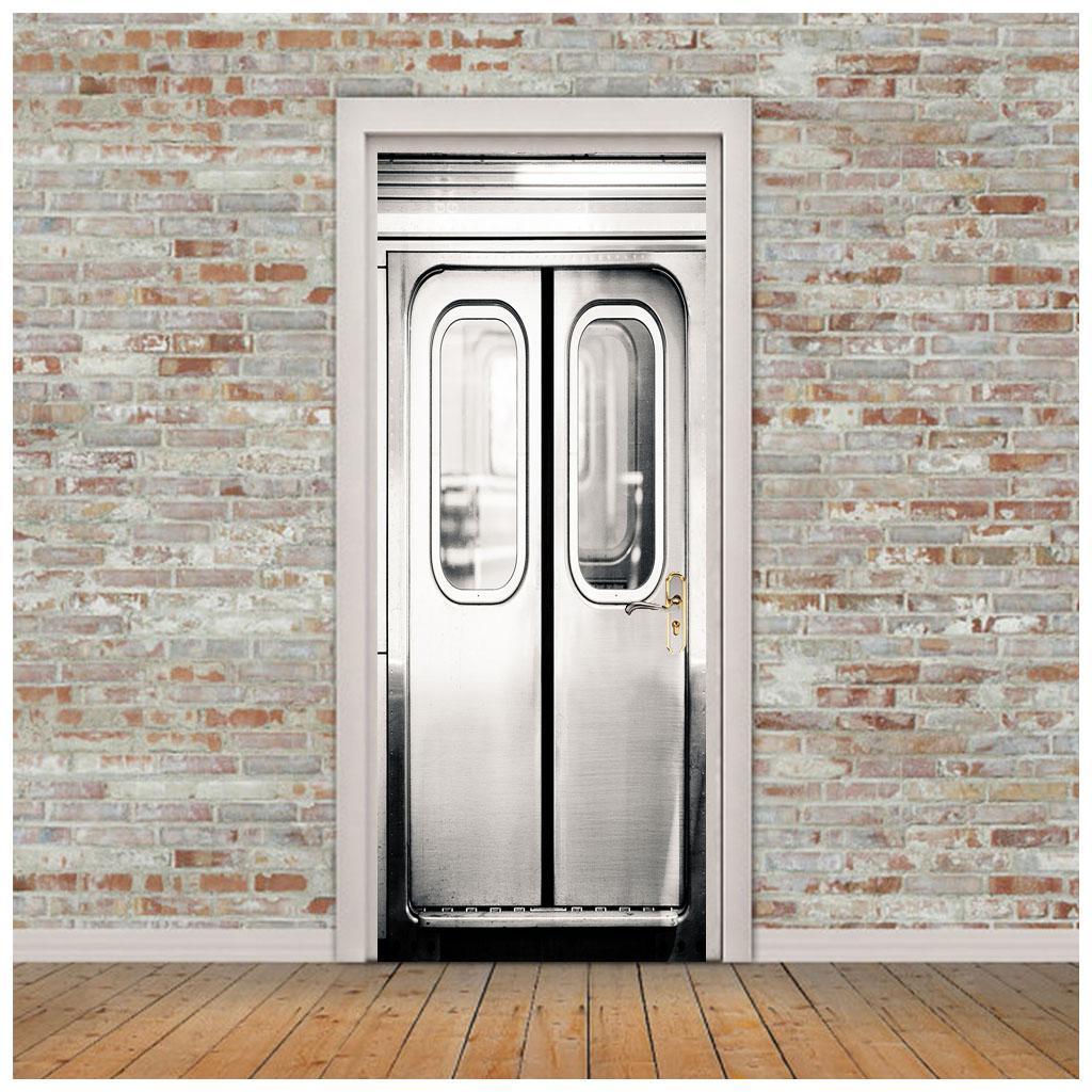 thumbnail 41 - 3D Self Adhesive Door Sticker DIY Decor Poster for Home Room Decor