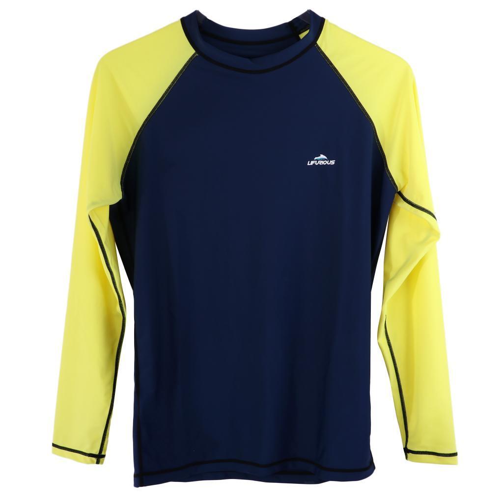 Perfeclan-Mens-Rash-Guard-Compression-Long-Sleeve-Swimwear-UV-Protection thumbnail 3