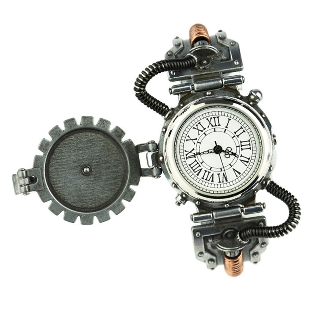 Orologio-Tascabile-da-Uomo-Stile-Steampunk-Gotico-Movimento-a-Quarzo miniatura 14