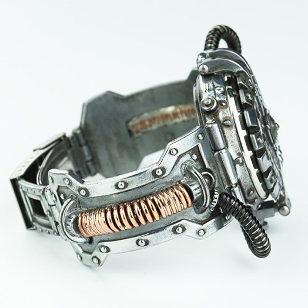 Orologio-Tascabile-da-Uomo-Stile-Steampunk-Gotico-Movimento-a-Quarzo miniatura 15