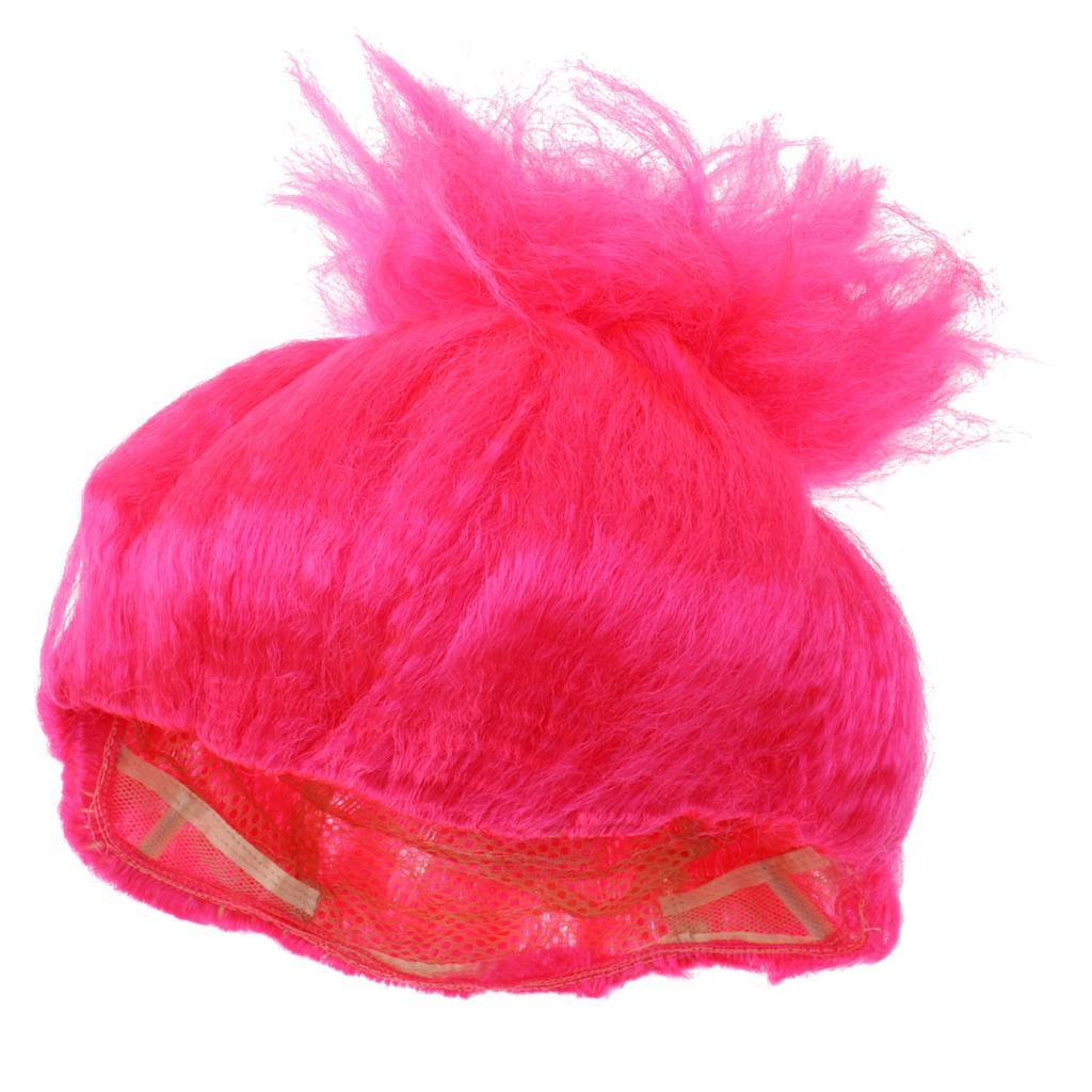 Cute-Flame-Troll-Short-Wig-Cosplay-Party-Costume-Fancy-Dress-Magic-Pixie-Elf-Wig thumbnail 23