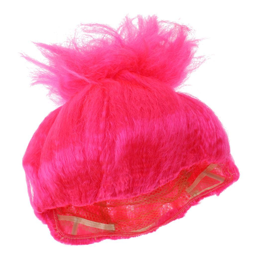 Cute-Flame-Troll-Short-Wig-Cosplay-Party-Costume-Fancy-Dress-Magic-Pixie-Elf-Wig thumbnail 24