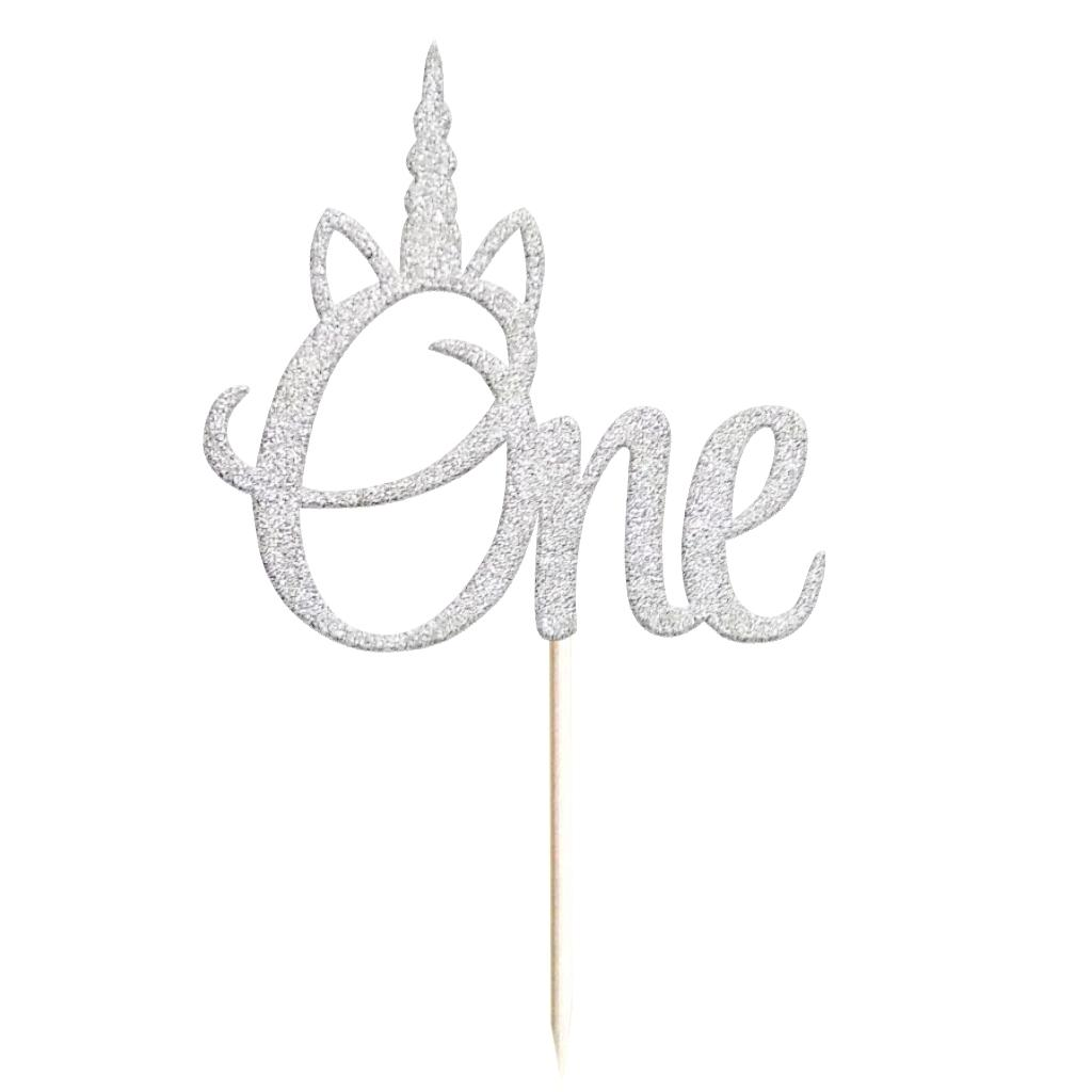 20pcs Unicorn Horn Cupcake Picks Cake Toppers First Birthday Baby Party