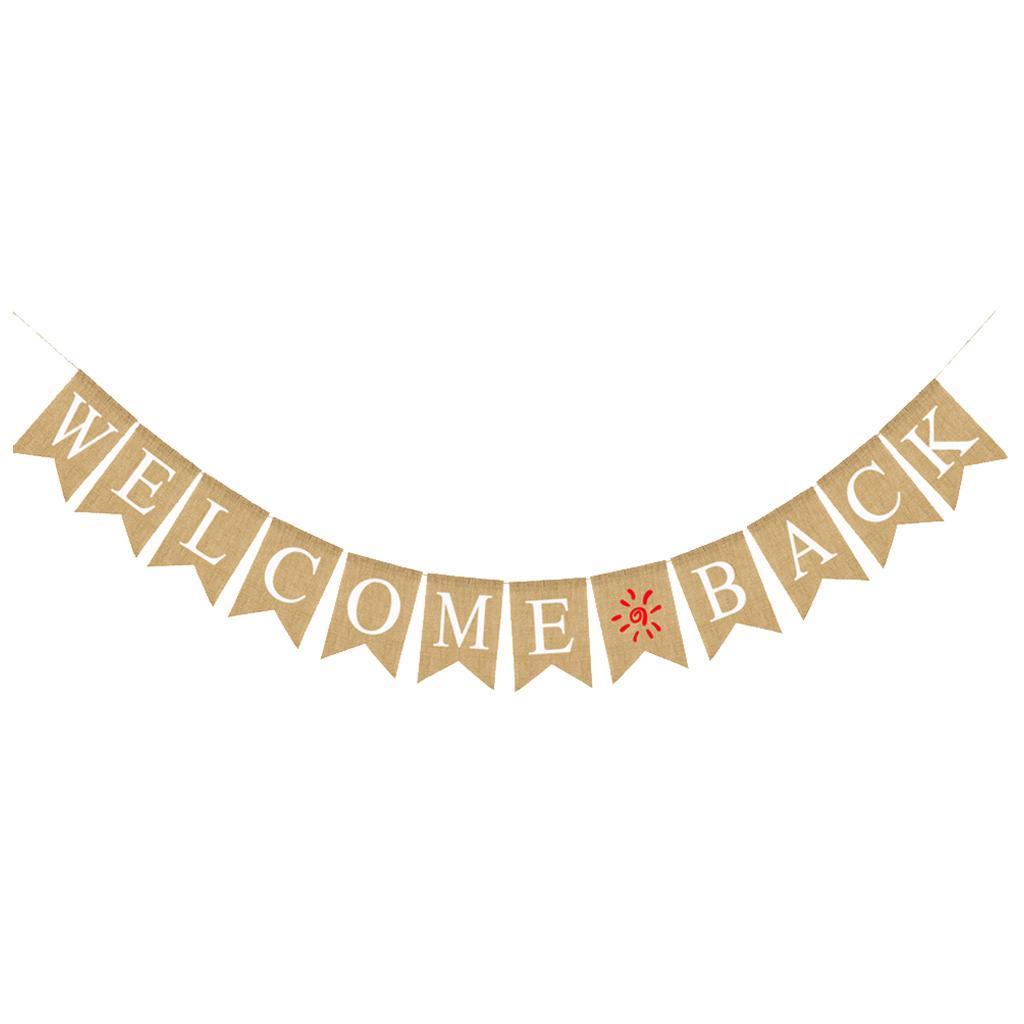 Indexbild 8 - Vintage Jute Hessian Bunt Banner Wimpelgirlande Wimpelkette für Familienparty