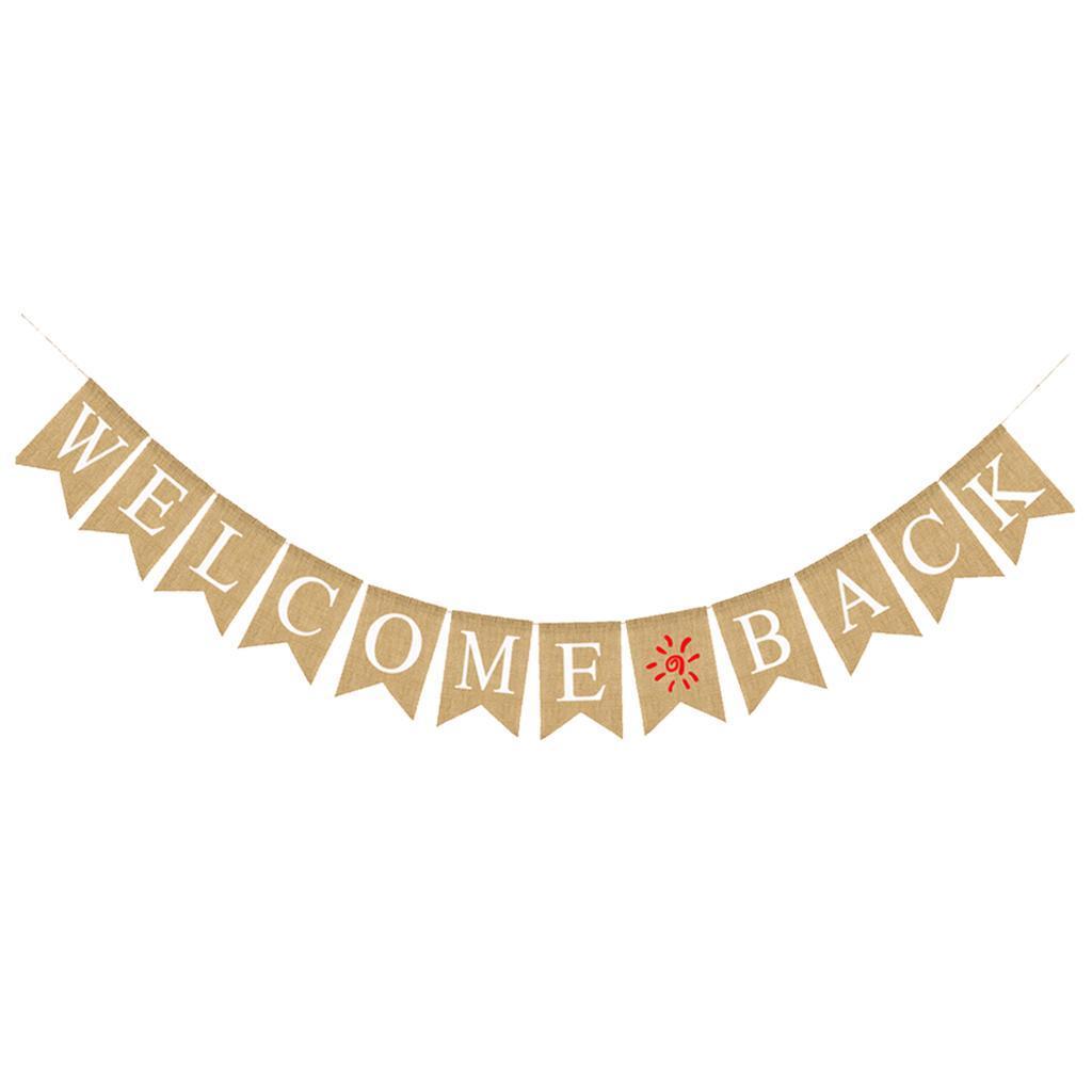 Indexbild 9 - Vintage Jute Hessian Bunt Banner Wimpelgirlande Wimpelkette für Familienparty