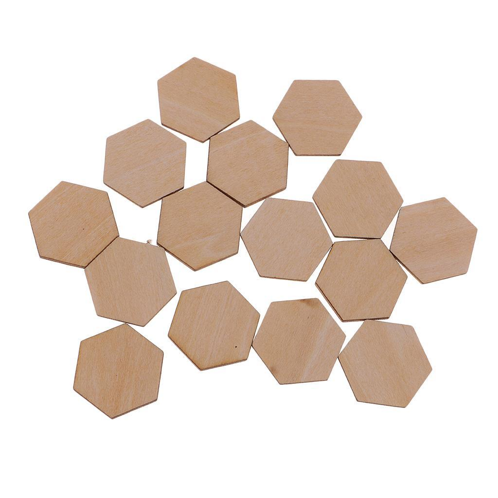 Indexbild 15 - 50-100-200-Stueck-Charming-Hexagon-Shaped-MDF-Holz-Schnitt-Holz