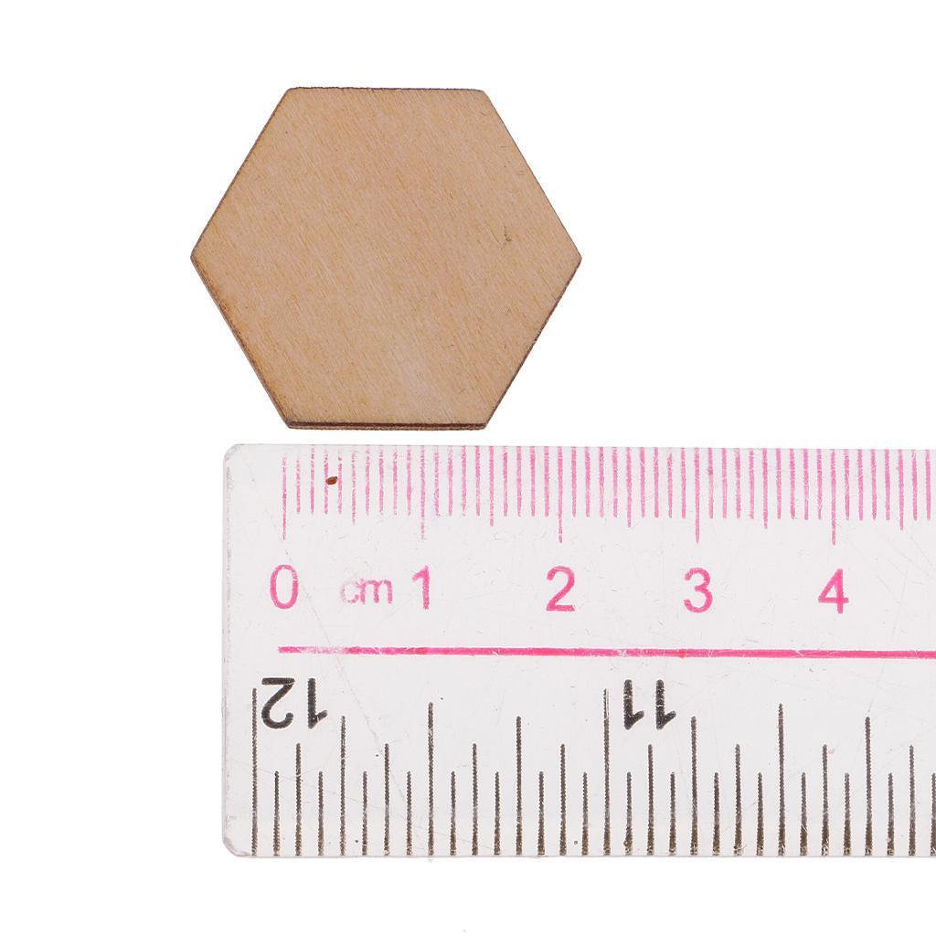 Indexbild 14 - 50-100-200-Stueck-Charming-Hexagon-Shaped-MDF-Holz-Schnitt-Holz