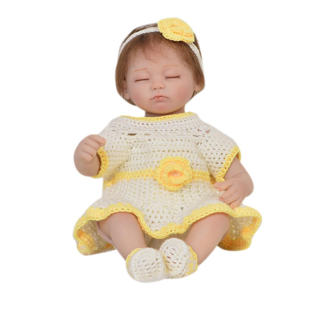 Handknitted-Dress-Socks-Set-for-17-18inch-Reborn-Baby-Girl-Toy-Doll-Clothes miniature 4