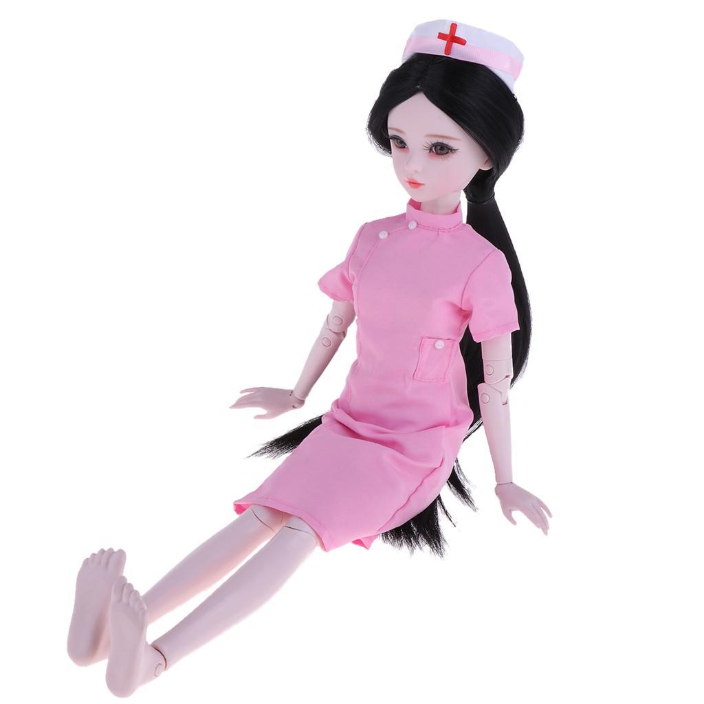 60 cm 1 3 BJD femminile bambole a mano snodato bambola infermiera giocattoli