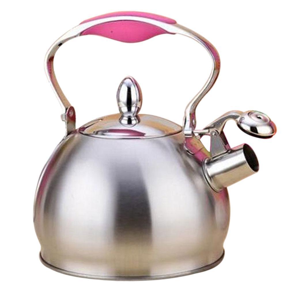 2L Edelstahl Pfeifkessel Kochfeld Gas Elektrisch Zelten Kochen Kaffee Tee Topf