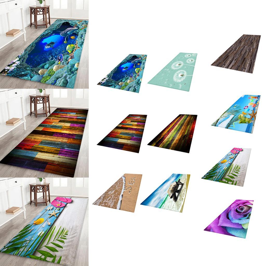Living-Room-Area-Rug-Runner-Kitchen-Bedroom-Anti-Skid-Floor-Mat-Carpet-3D thumbnail 3