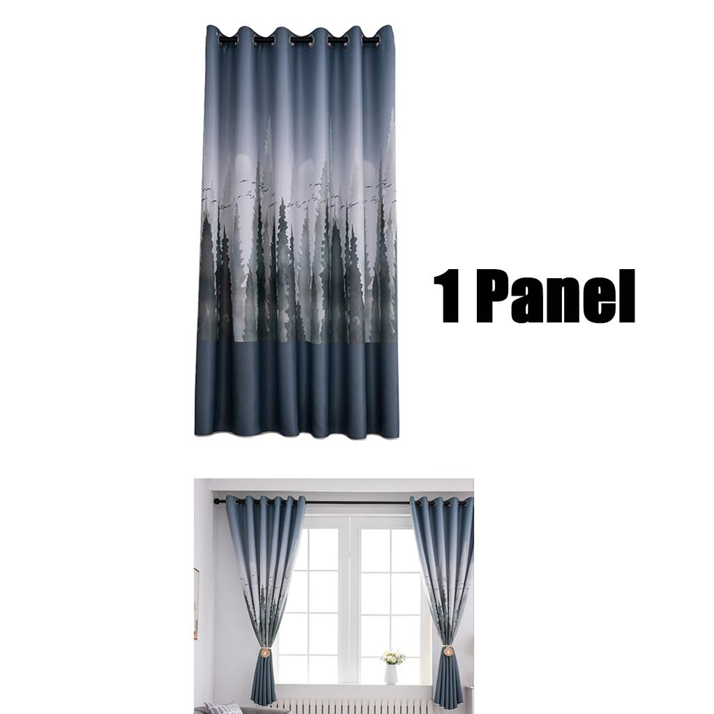 Details About 100x200cm Living Room Blackout Window Curtains Modern Rod Pocket Panel 1pc