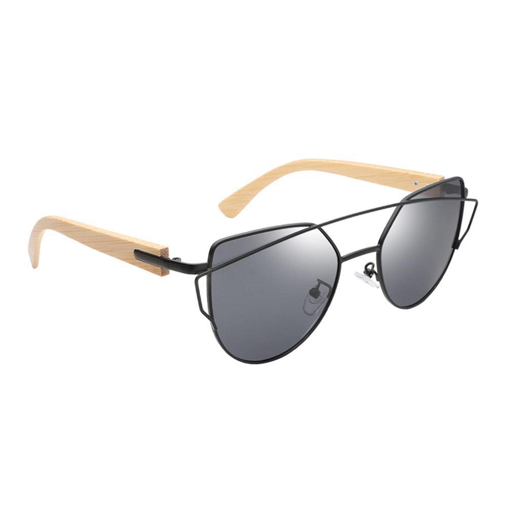 uomo-donna-moda-in-legno-uv-400-lenti-piatte-occhiali-da-sole-con-gambe-di miniatura 14