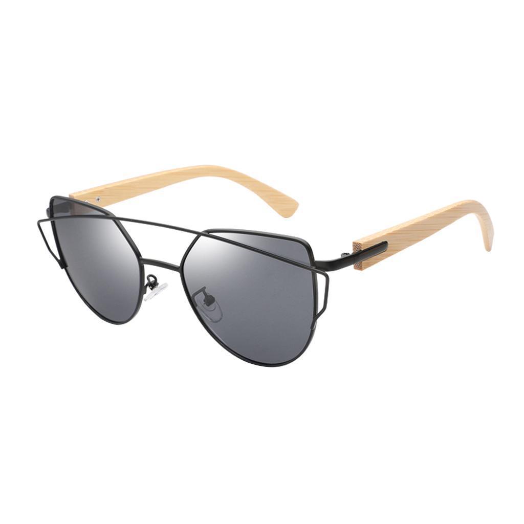uomo-donna-moda-in-legno-uv-400-lenti-piatte-occhiali-da-sole-con-gambe-di miniatura 13